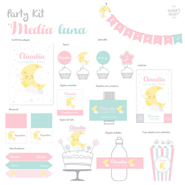 Image of Party Kit Media Luna Impreso