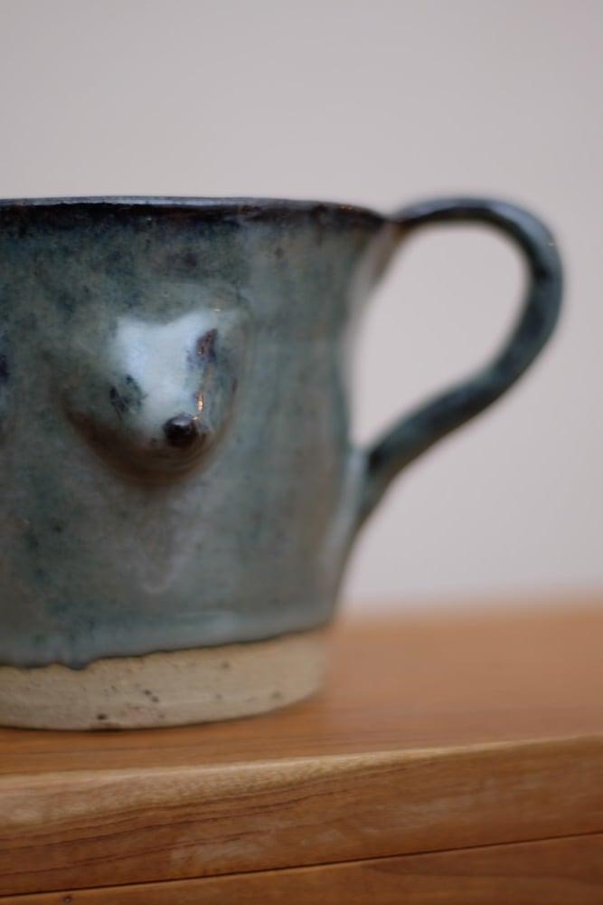 Image of Blue Boob Milk Jug