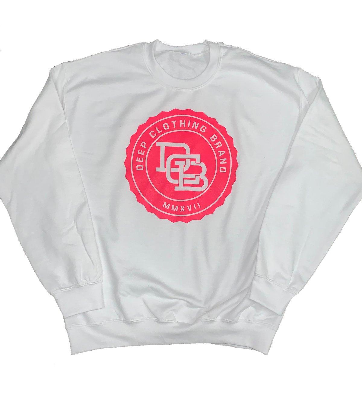 Image of Limited Edition - White MonoGram Crew neck Sweatshirt