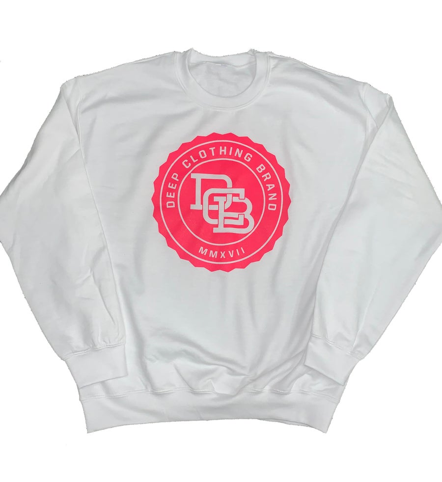Image of Limited Edition - White MonoGram Crew neck Sweatshirt