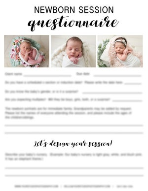 Image of Newborn Session Questionnaire