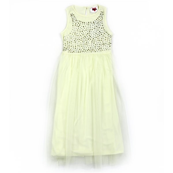 Image of Girls Yellow Mesh Dress