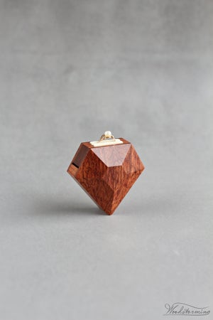 Image of Diamond shape engagement ring box by Woodstorming