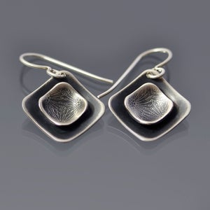 Image of Sterling Silver Layered Seed Pod earrings