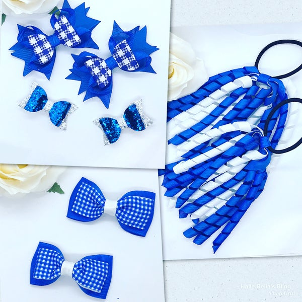 Image of Summer back to school set of 8 bows