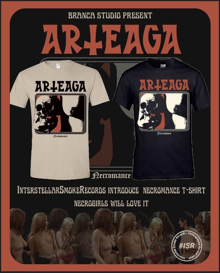 "Image of Arteaga ""Necromance"" BEIGE / BLACK T-Shirt by Branca Studio"