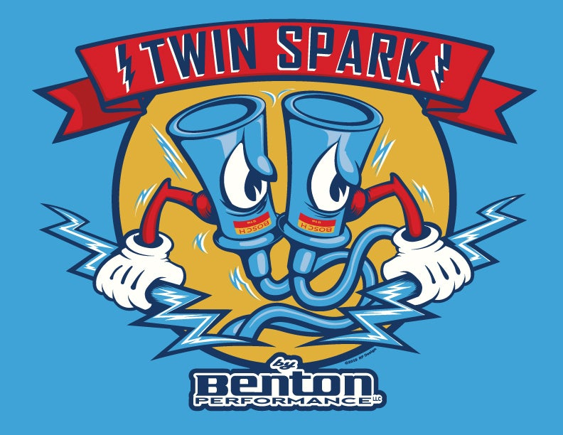 "Image of ""Twin Spark by Benton"" LTD Edition Tee Shirt  **PRE-ORDER"
