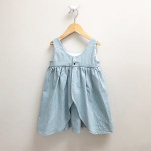 Image of Eggshell Reversible Pinafore