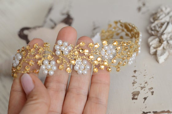 Image of Sparkles and pearls headband