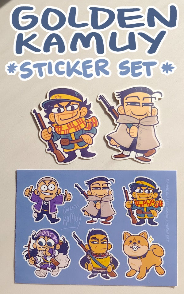 Image of GOLDEN KAMUY: Sticker Set
