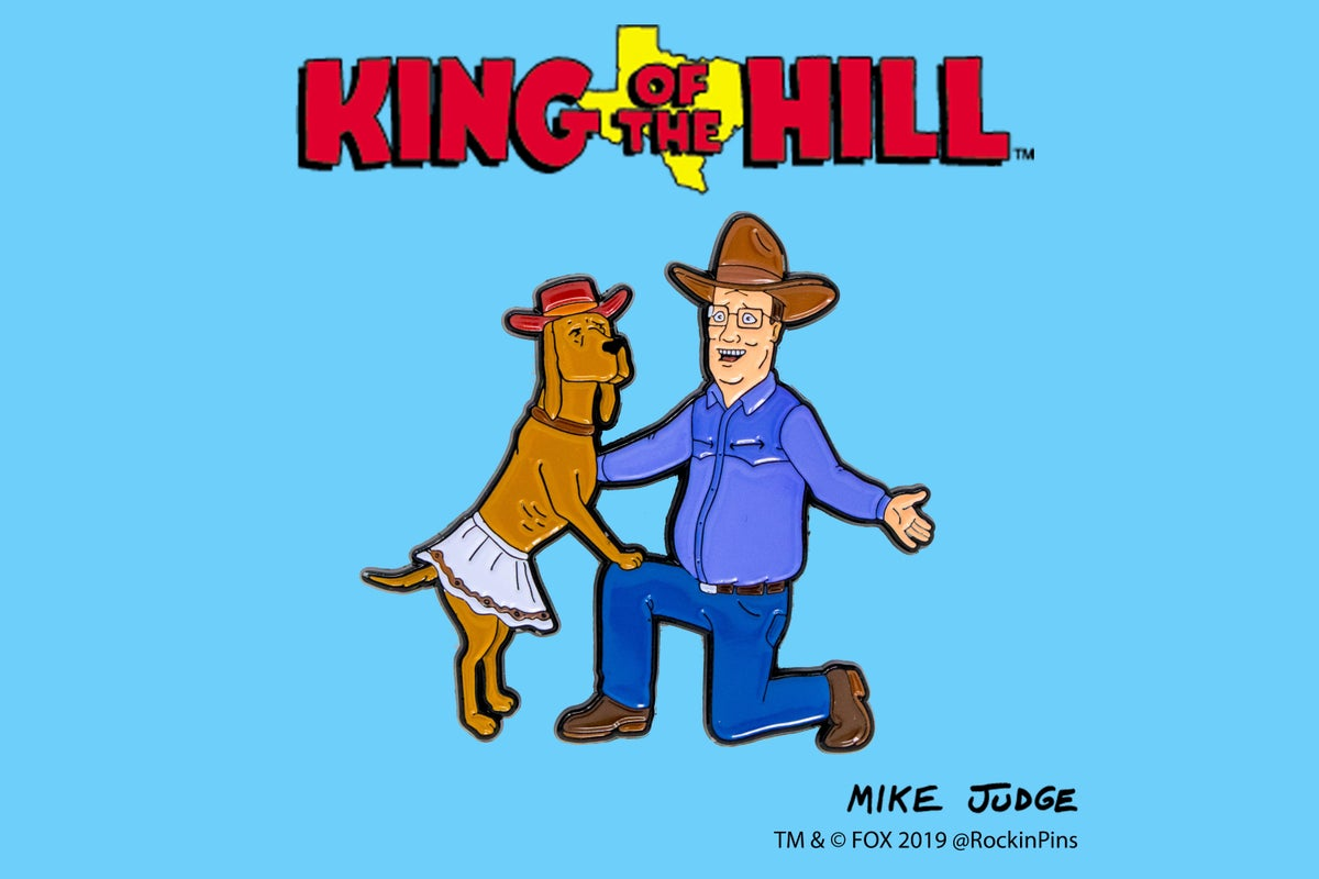 Image of King of the Hill - Hank and Ladybird Enamel Pin