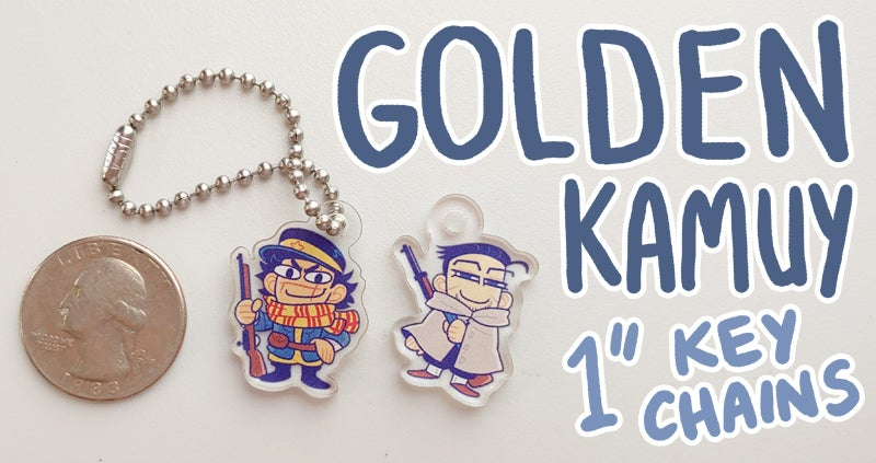"Image of GOLDEN KAMUY: 1"" Keychains"