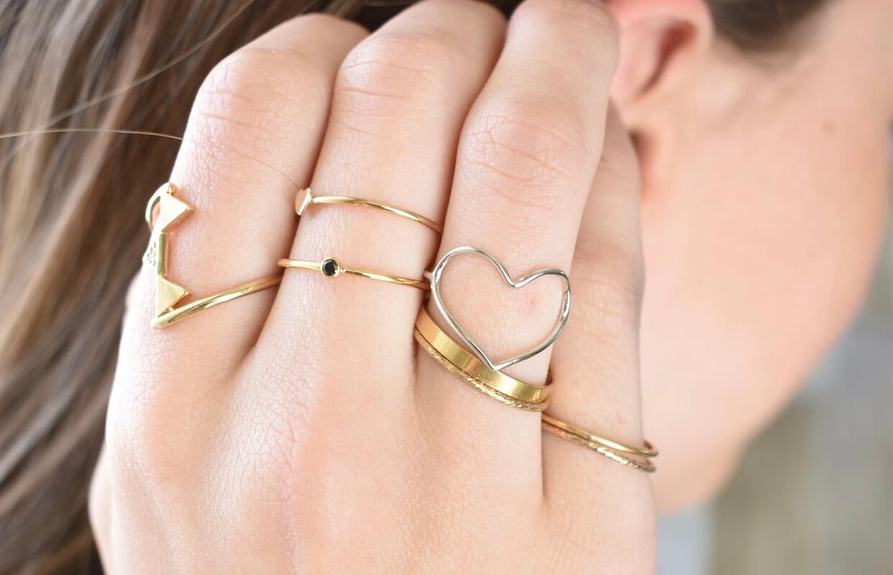 Image of Gold filled stacking ring
