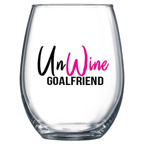 Image of UnWine #GoalFriend Stemless Wine Glass