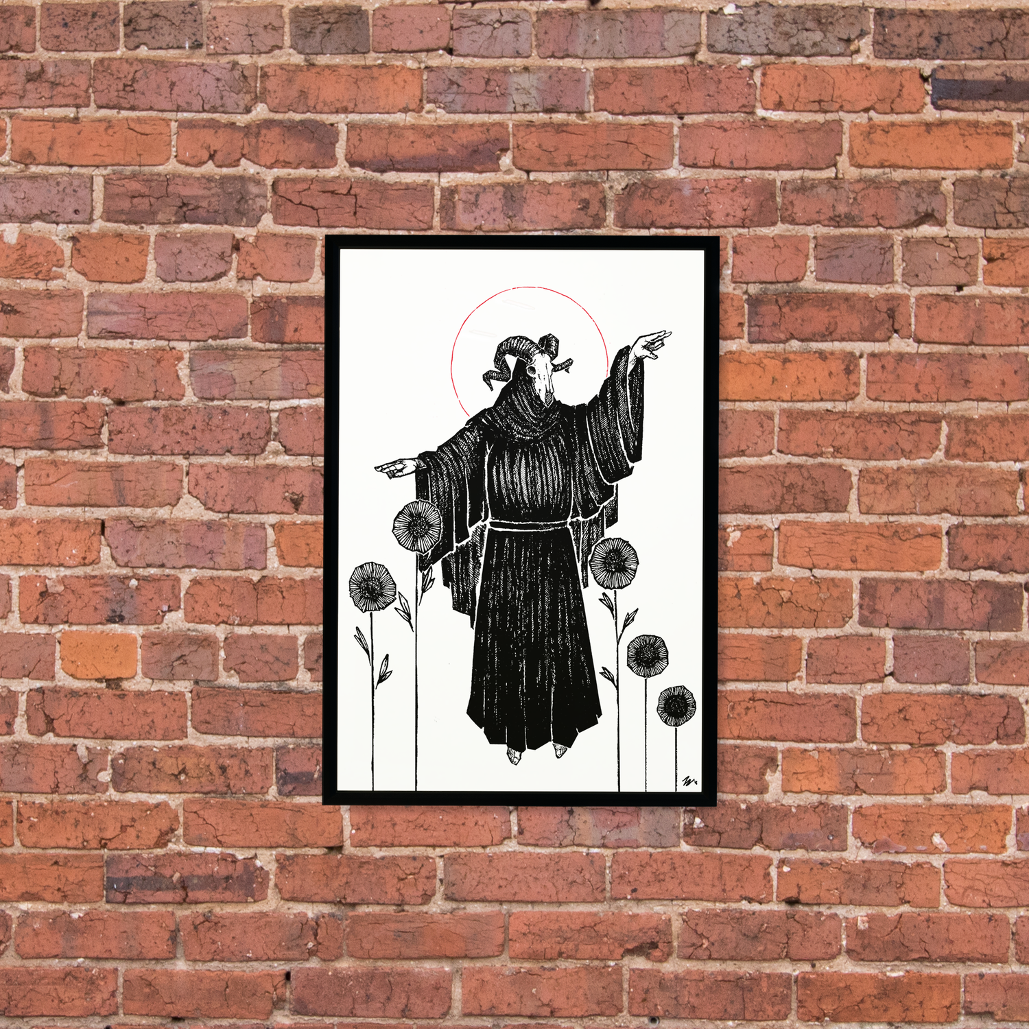 """Image of """"Five of Wands"""" 13""""x19"""" Luster Paper Print"""