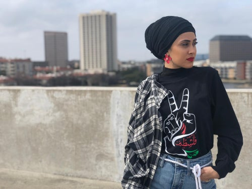 Image of Free Palestine Dove Long Sleeve Tee