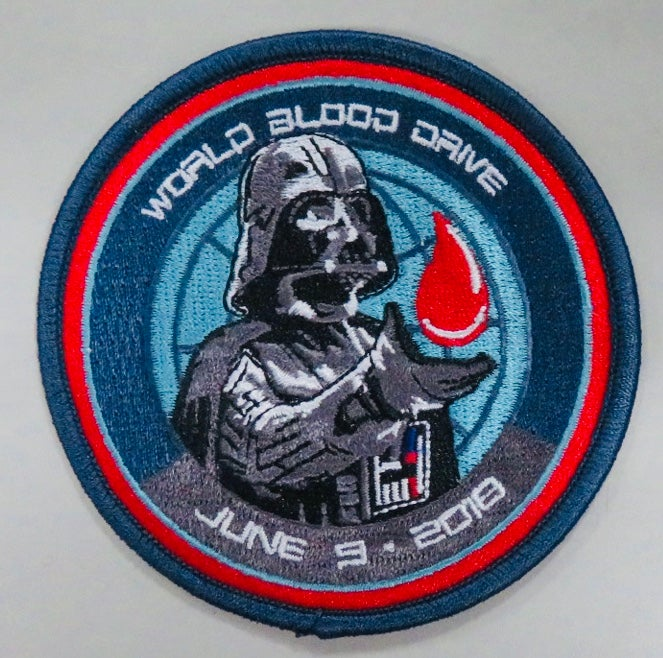 Image of 2018 World Blood Drive Darth Vader Patch