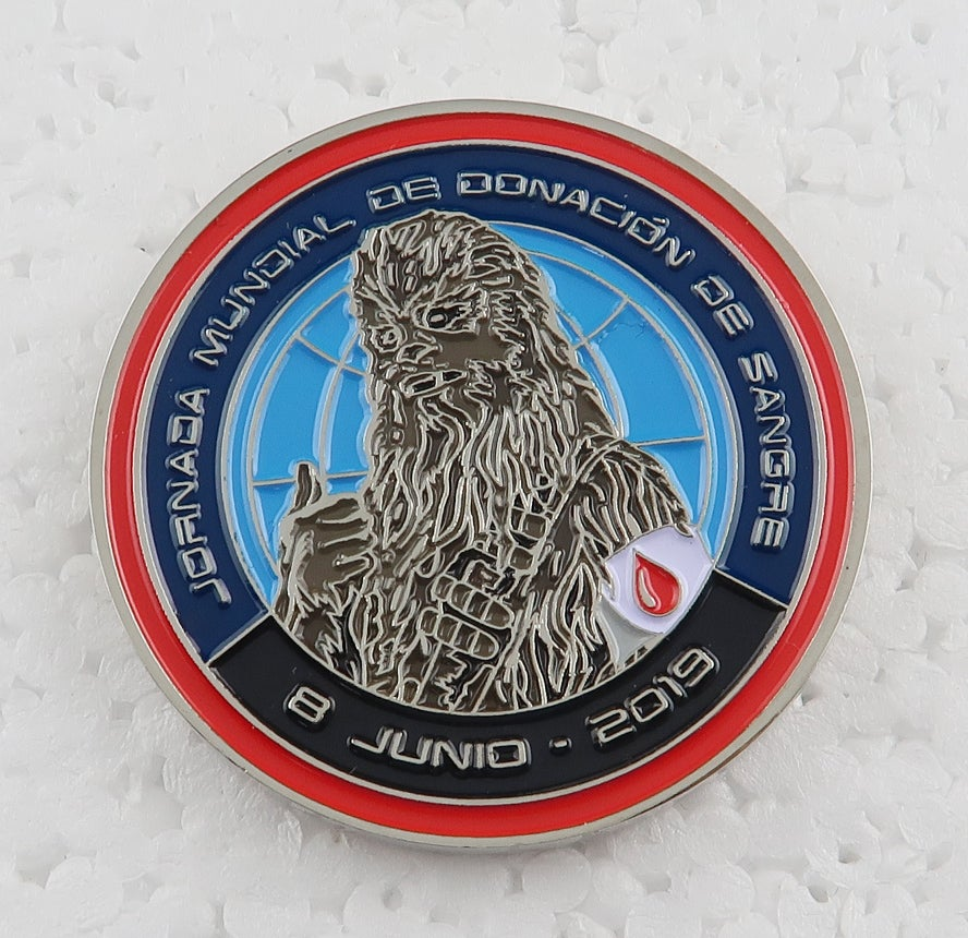 "Image of 2019 World Blood Drive Chewbacca 1.5"" Coin"