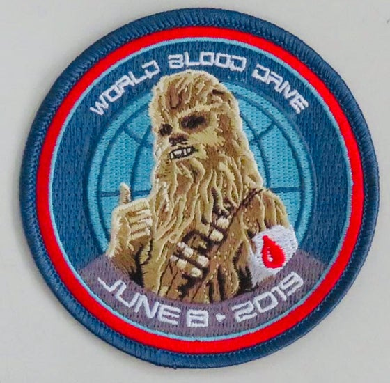 Image of 2019 World Blood Drive Chewbacca Patch 2 versions