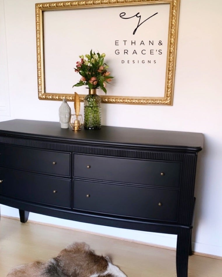 Image of All Black sideboard