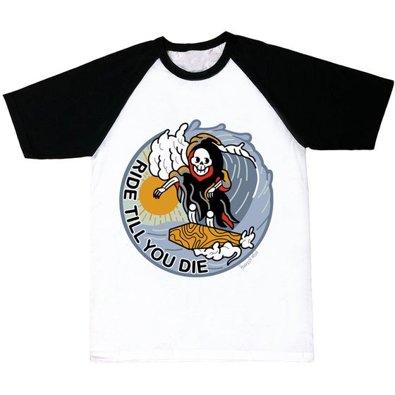 Image of Ride till you die black sleeves T-shirt