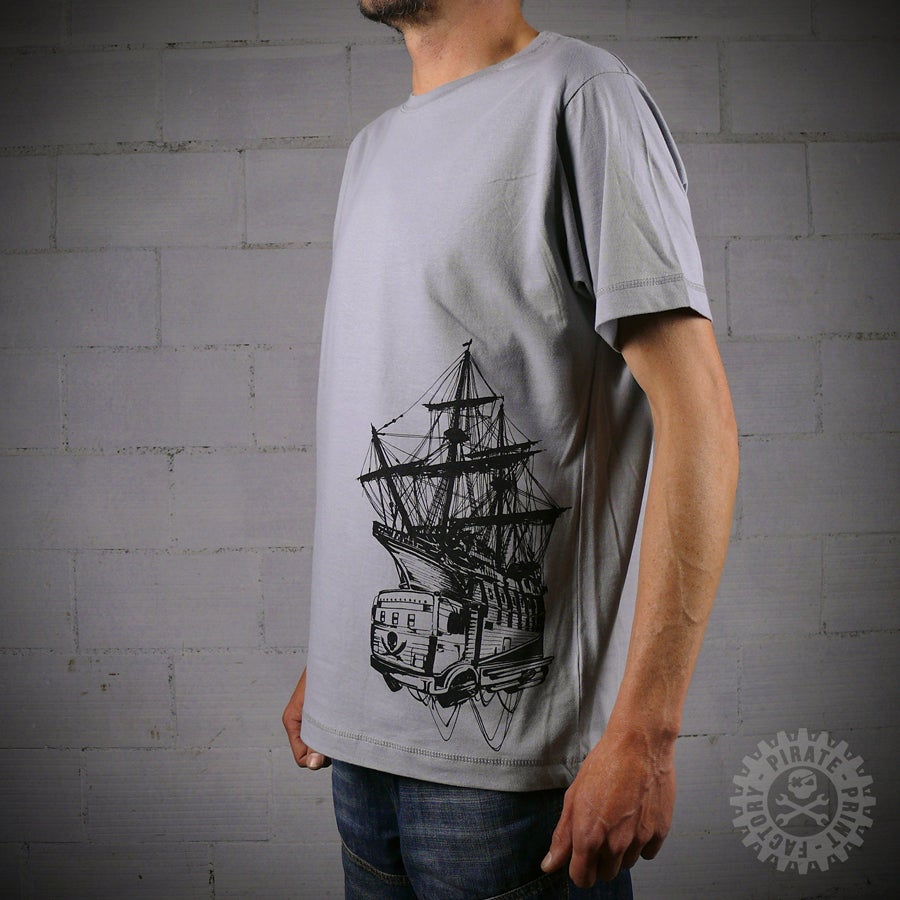 Image of T-SHIRT PIRATE BOAT GREY