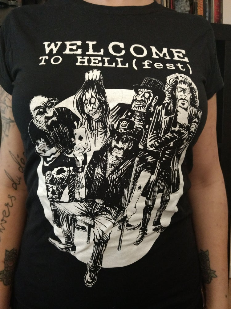 Image of TEE-SHIRT girlie Welcome to Hell(fest) Allstars