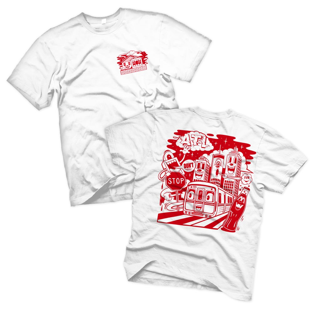 "Image of ""ON THE RISE"" TEE (RED EDITION)"