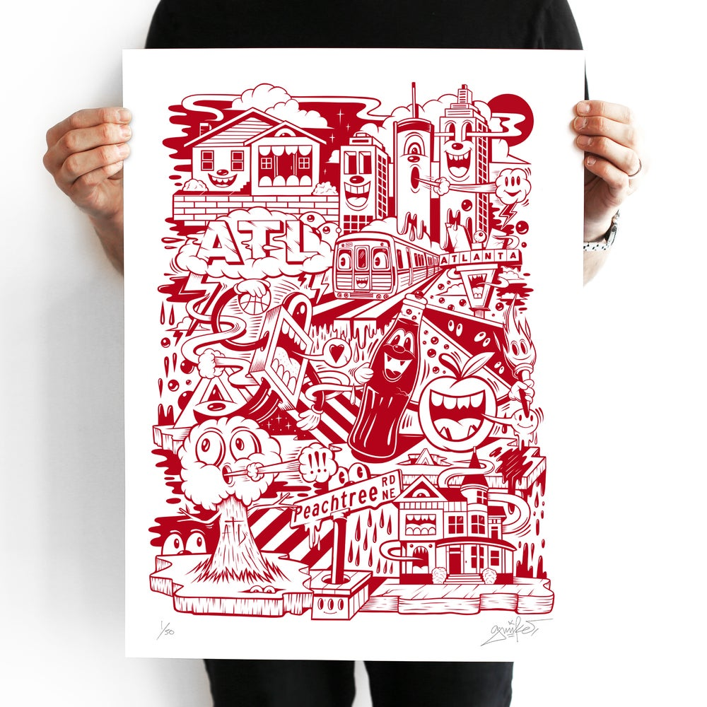 "Image of ""ON THE RISE"" PRINT (RED EDITION)"