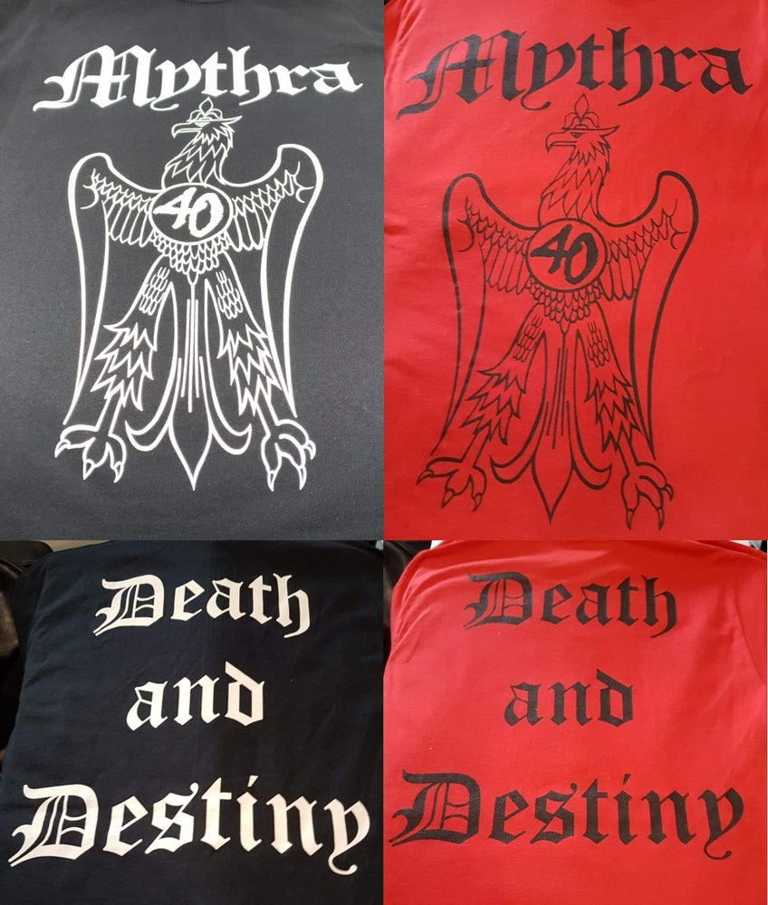Image of Mythra 40th Anniversary Death and Destiny Teeshirts
