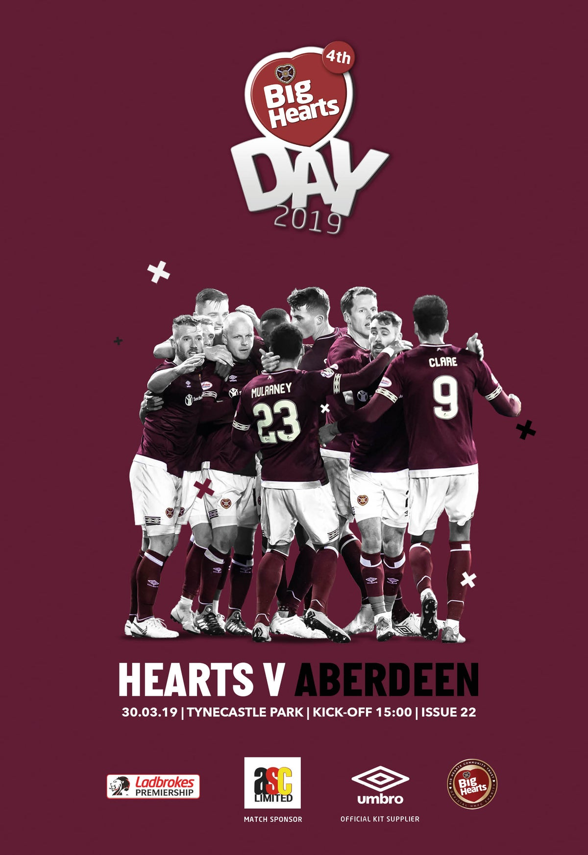 Image of Hearts v Aberdeen, 30th March 2019