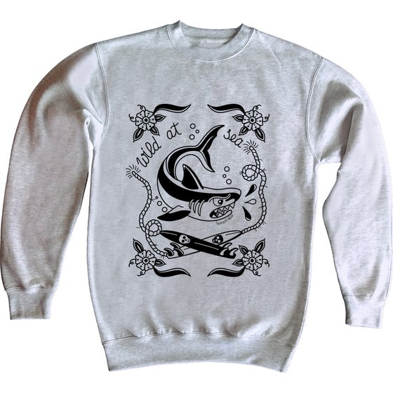 Image of Wild at sea shark sweatshirt
