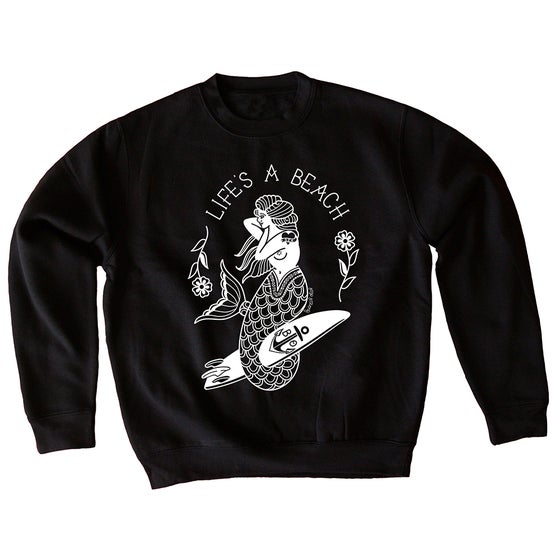 Image of Life's a beach mermaid sweatshirt