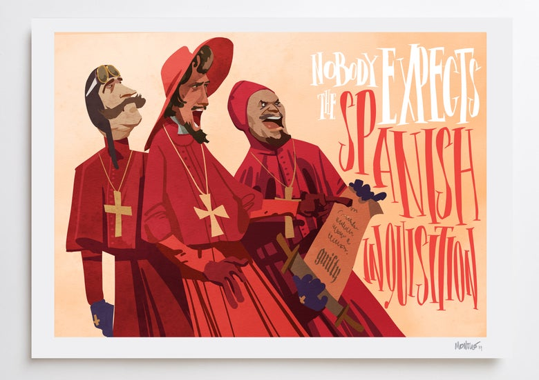 Image of Spanish Inquisition A3 PRINT