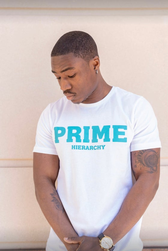 Image of Prime Tee (White/Teal)
