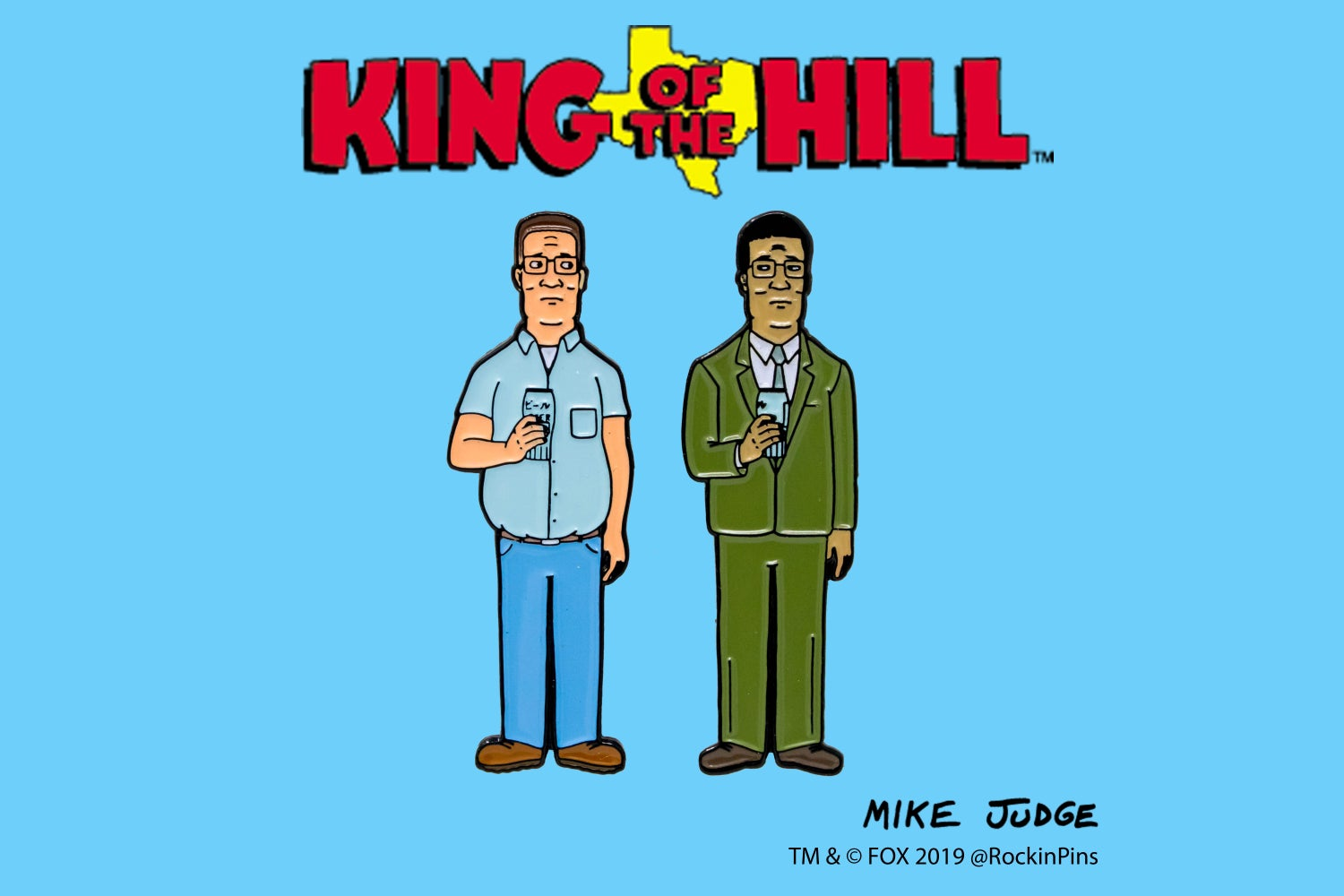 Image of King of the Hill - Hank and Junichiro Enamel Pin Set