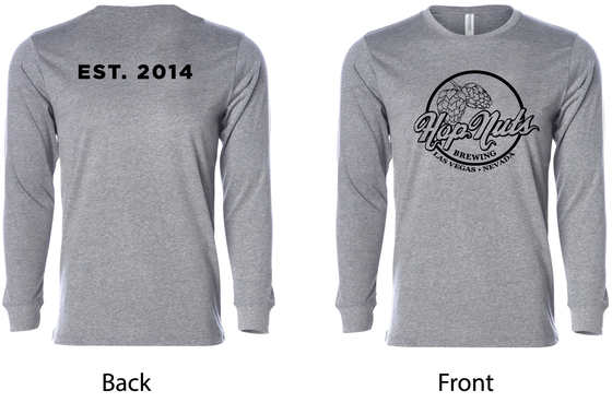 Image of Grey Long Sleeve T-Shirt (EST. 2014)