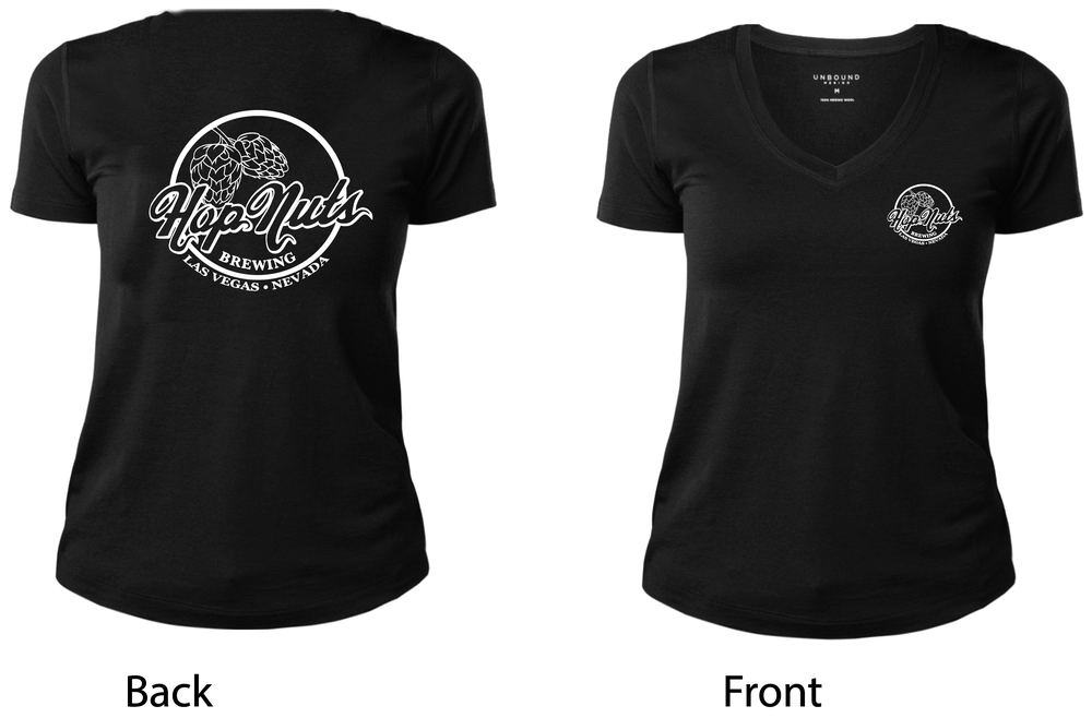 Image of Black & White Women's V-Neck T-Shirt