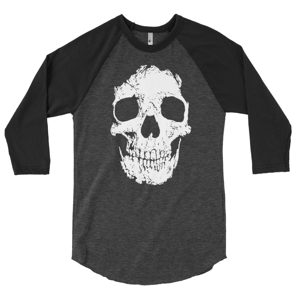 Image of Skull Raglan Grey/Black