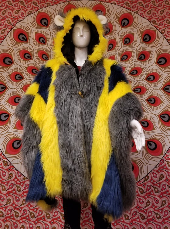 Image of Fun Fur Poncho: Electric