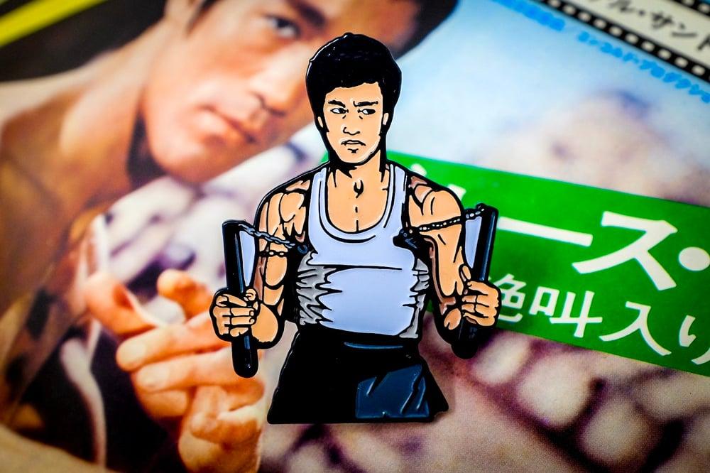 Bruce Lee - Nunchucks Enamel Pin