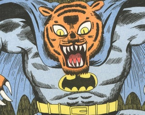 Image of Tiger Batman - A3 Risograph Print