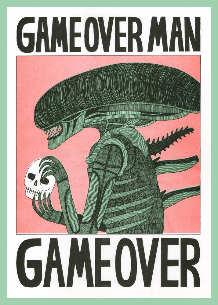 Image of Game Over Man - A3 Risograph Print