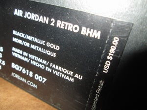 "Image of Air Jordan II (2) Retro ""Black History Month"""