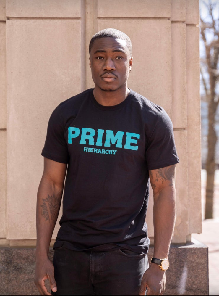 Image of Prime Tee (Black/Teal)
