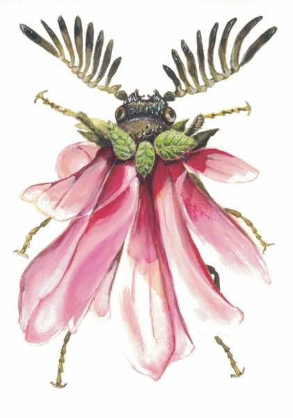 Image of Print Magnolia Bug- Linda Davy