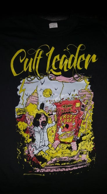 Image of CULT LEADER CHARLIE VS FROOT MONSTER T SHIRT (IN STOCK)