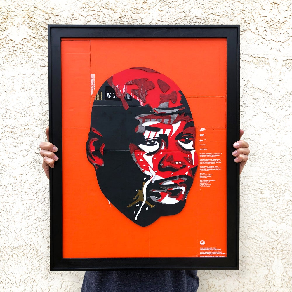 Image of No jordan No cry Laser cut and stacked in frame