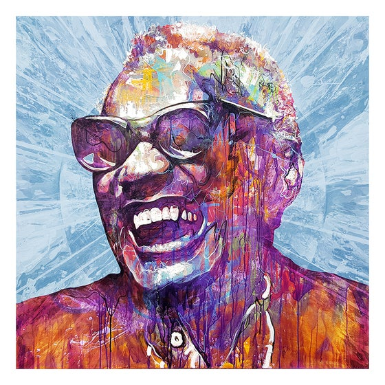 Image of Ray Charles - OPEN EDITION PRINT - FREE WORLDWIDE SHIPPING!!!