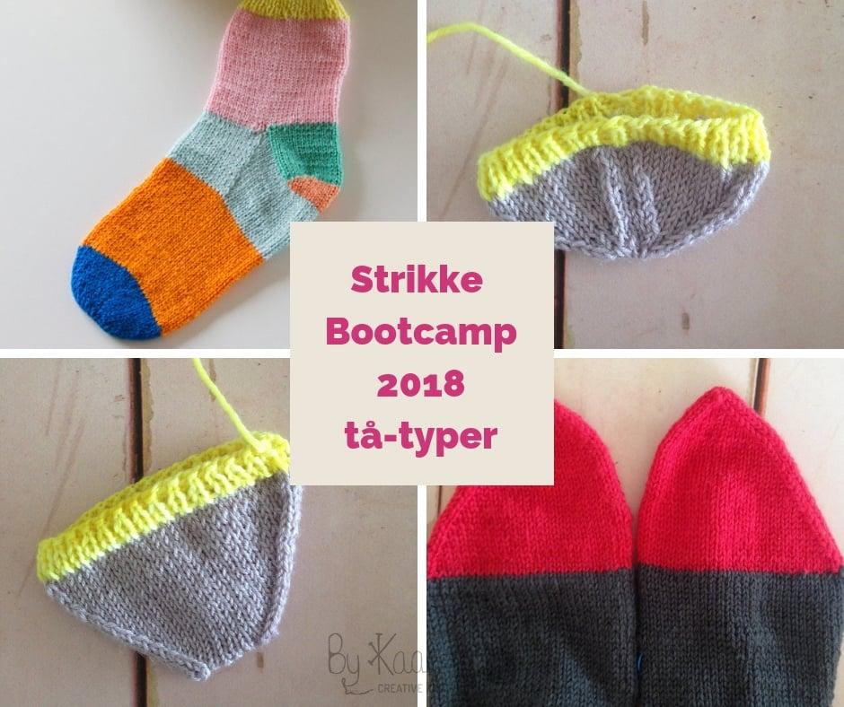 Image of Tå-typer modul fra Strikke Bootcamp 2018 Bliv en ørn til at strikke sokker